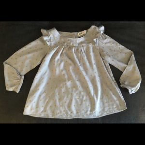 [h&m] girl's long sleeve blouse (NWT) 6-7Y